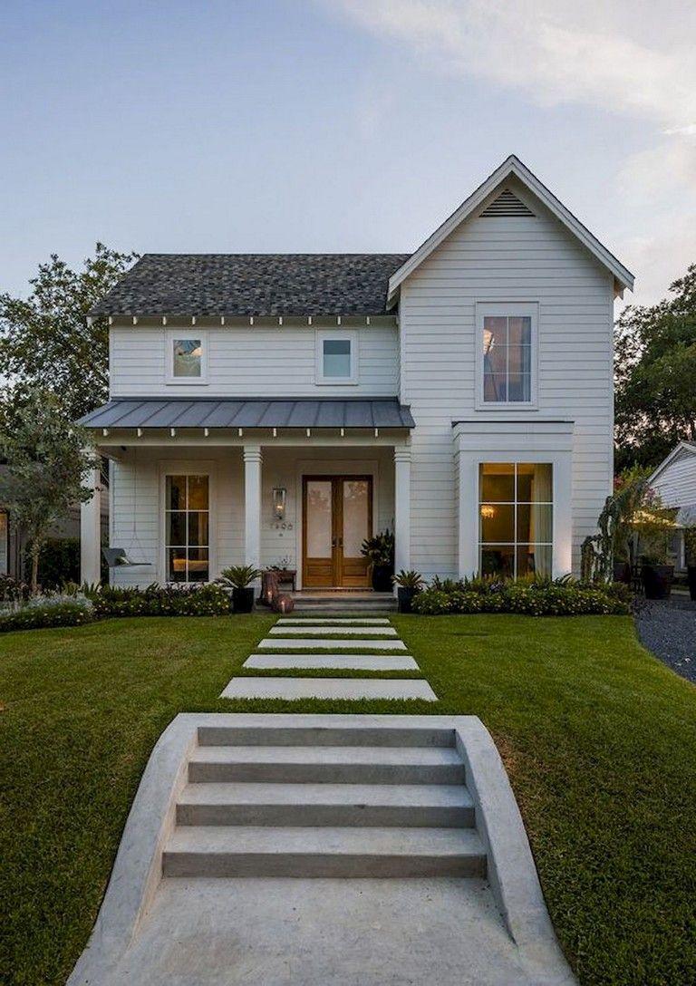 53+ Amazing Urban Farmhouse Exterior Design Ideas