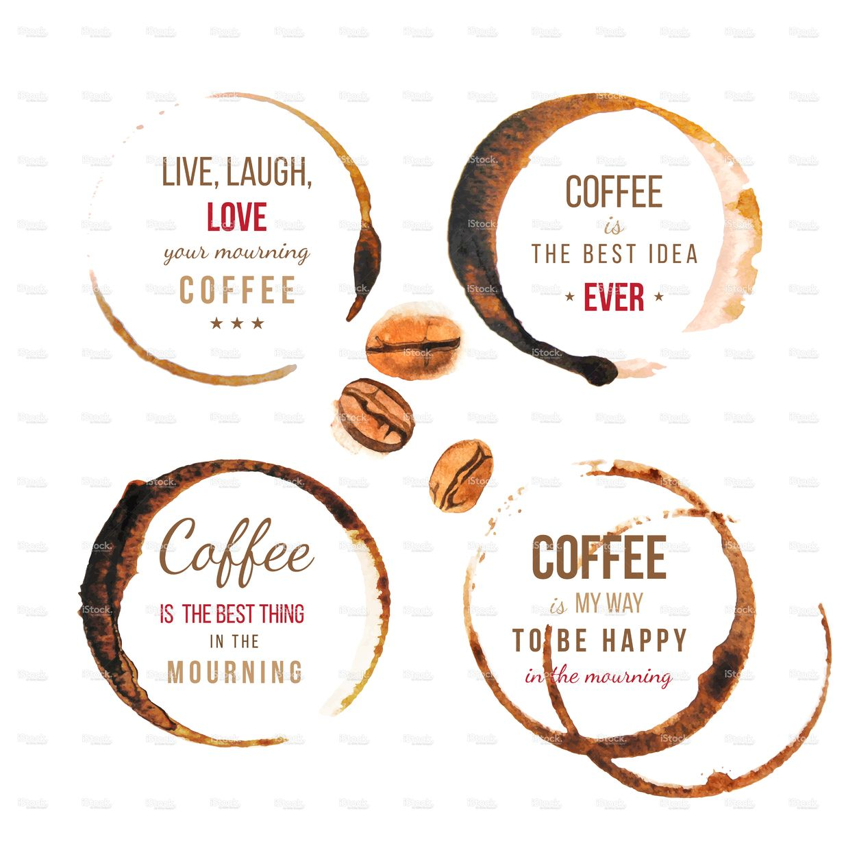 Coffee Stains With Type Designs About Coffee デザイン 影像 創意