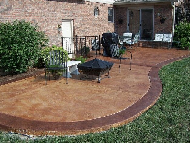 Captivating Colored Concrete Patio Ideas With Fire Pit   Google Search