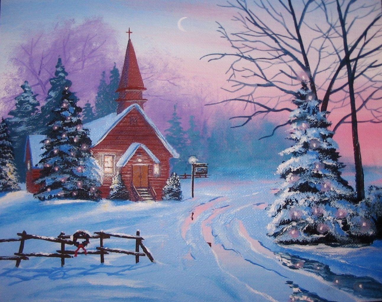 Country christmas google search i love christmas Christmas card scenes to paint