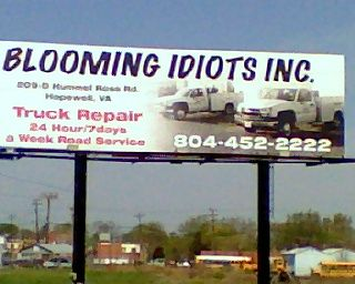 Business name fail.... (find more funny signs at funnysigns.net)