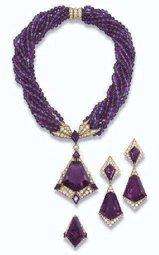 Amethyst And Diamond beauty bling jewelry fashion - Beauty Bling Jewelry