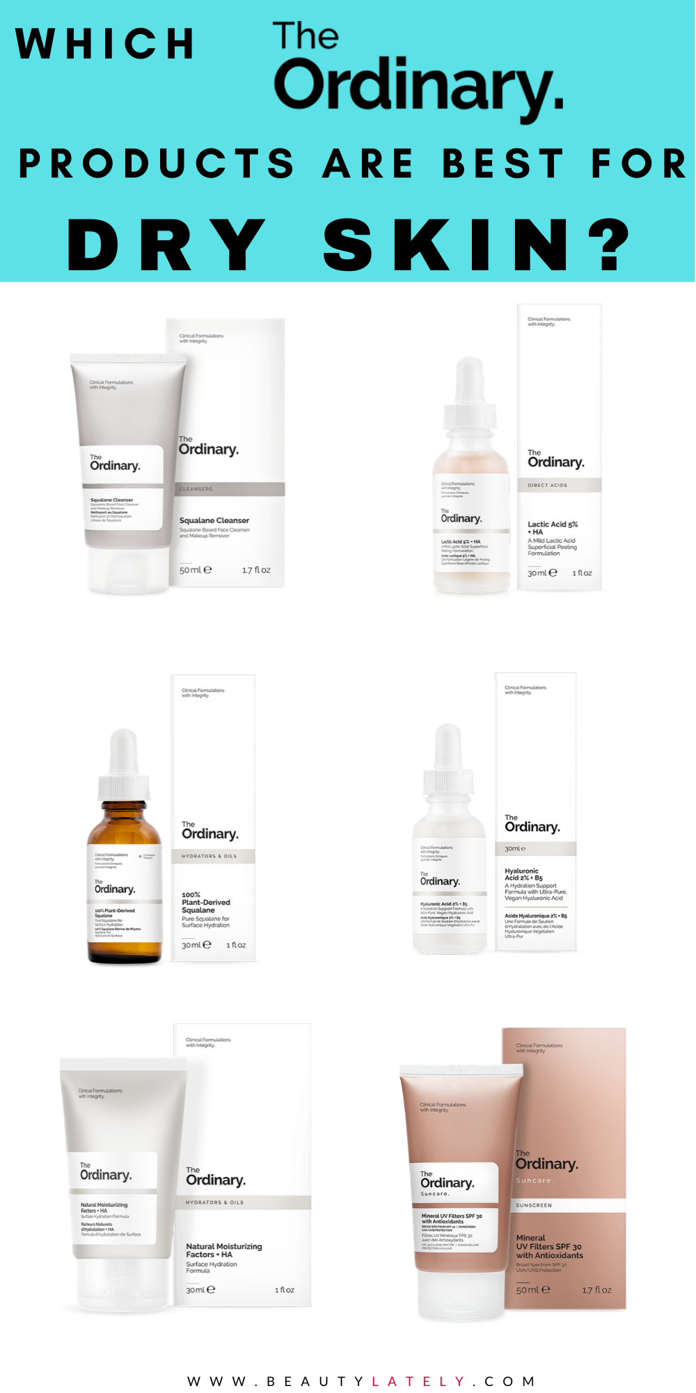How To Pick The Best The Ordinary Products For Dry Skin In 2020 The Ordinary For Dry Skin Moisturizer For Dry Skin Oil For Dry Skin