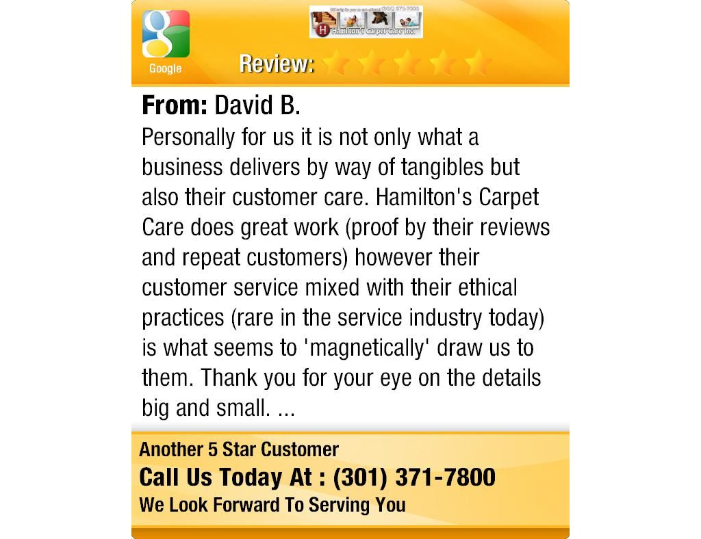 Personally for us it is not only what a business delivers