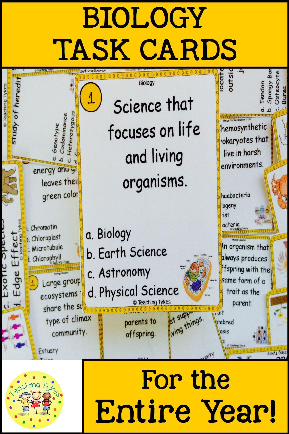Biology Task Cards