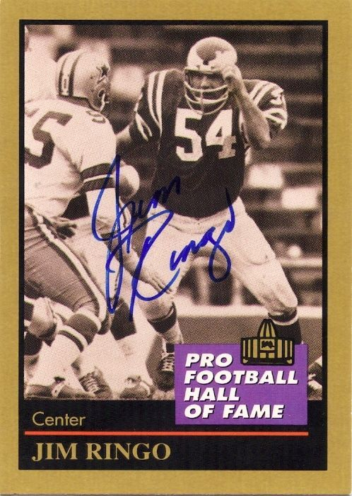 Jim Ringo #Packers/#Eagles/pro #Football Hall Of Fame Personally #Autographed Card from $7.99
