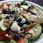 Fruit and veggie salad combined with a sweet/sour dressing