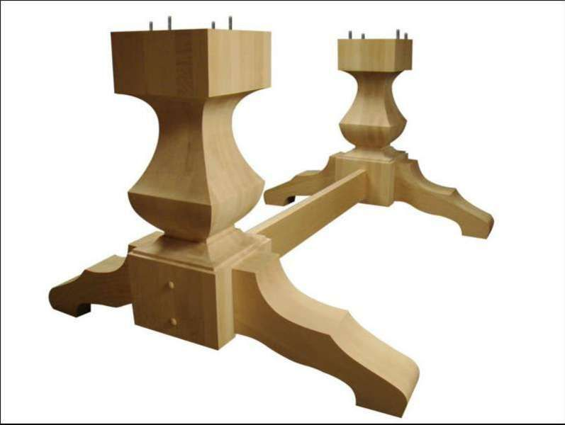 Wood Pedestal Table Base Kits
