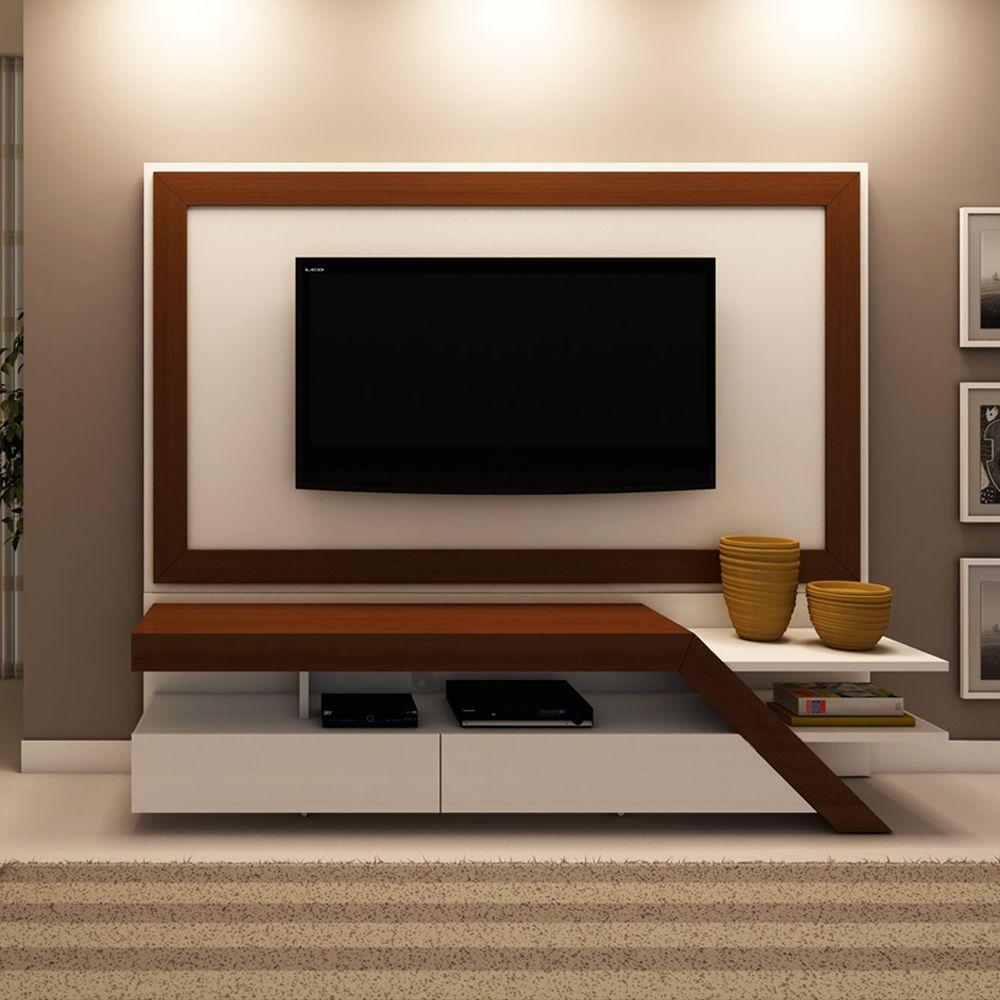 Rack Para Sala De Tv Branco ~  para tv branco, Tapete para ambientes brancos and Painel tv sala