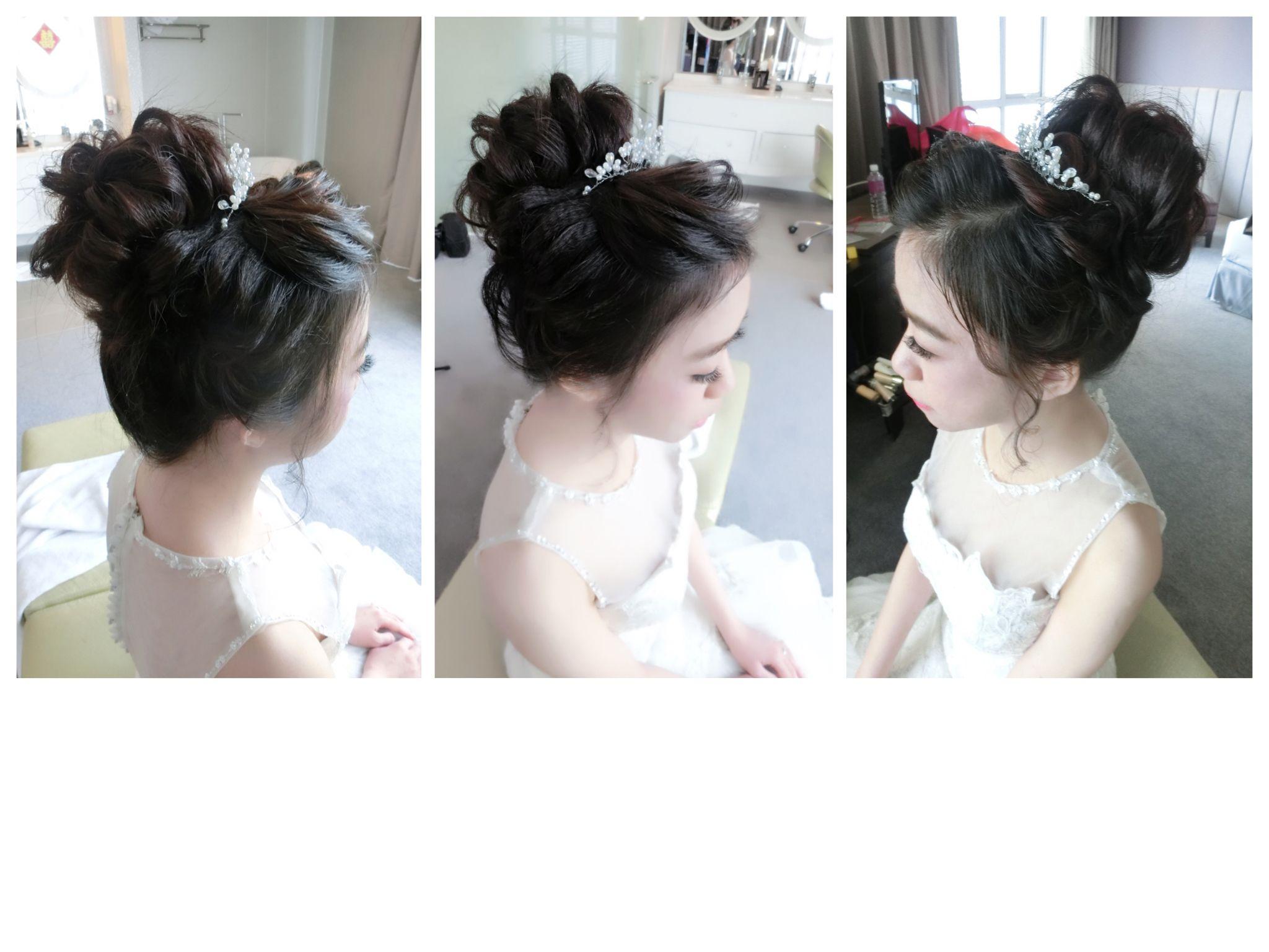 Bridal makeup and hairdo done by rainne yap rainne makeup world ...