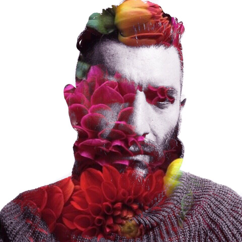 Self portrait #RichardRivera #flowerBeard