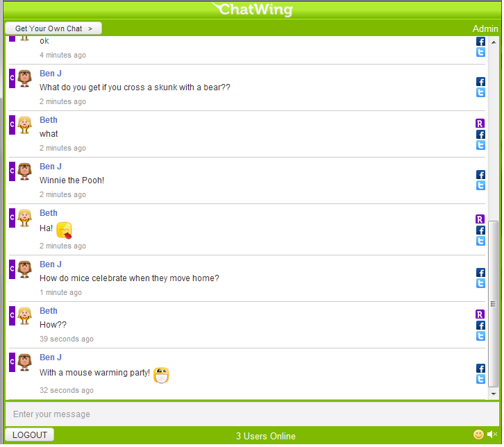 Create a Chatwing Chat Room | ChatWingRoom | Live chat room