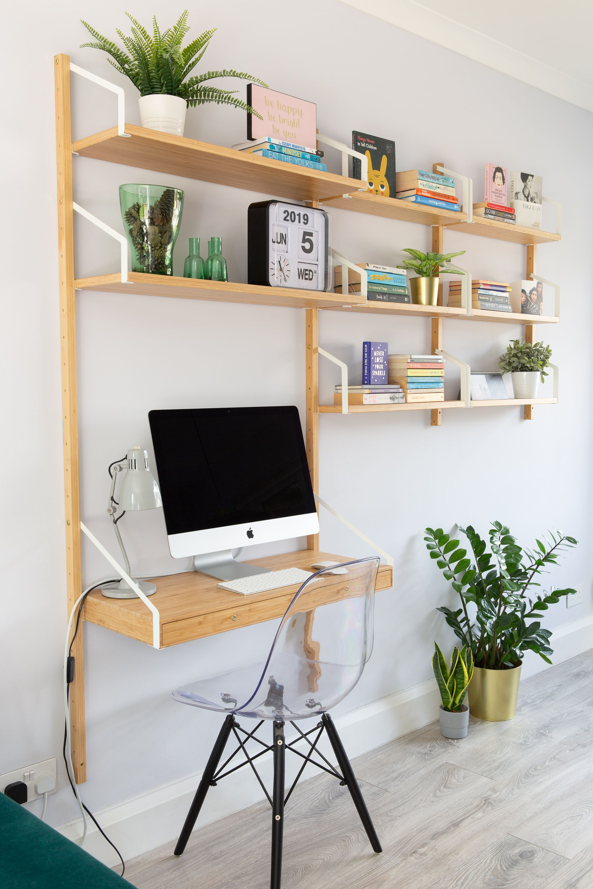 My Wall Mounted Workspace Combination Desk In Living Room Home