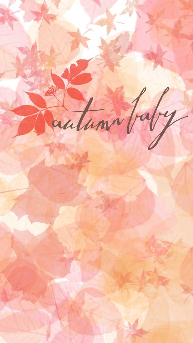 Autumn Baby Leaves Iphone Wallpaper Background Lock Screen Phone