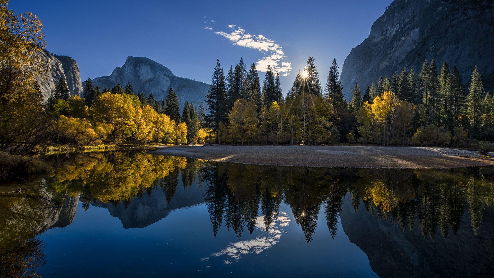 Yosemite Park California Landscape Wallpaper - http://www.gbwallpapers.com/yosemite-park-california-landscape-wallpaper/ ( / Nature)
