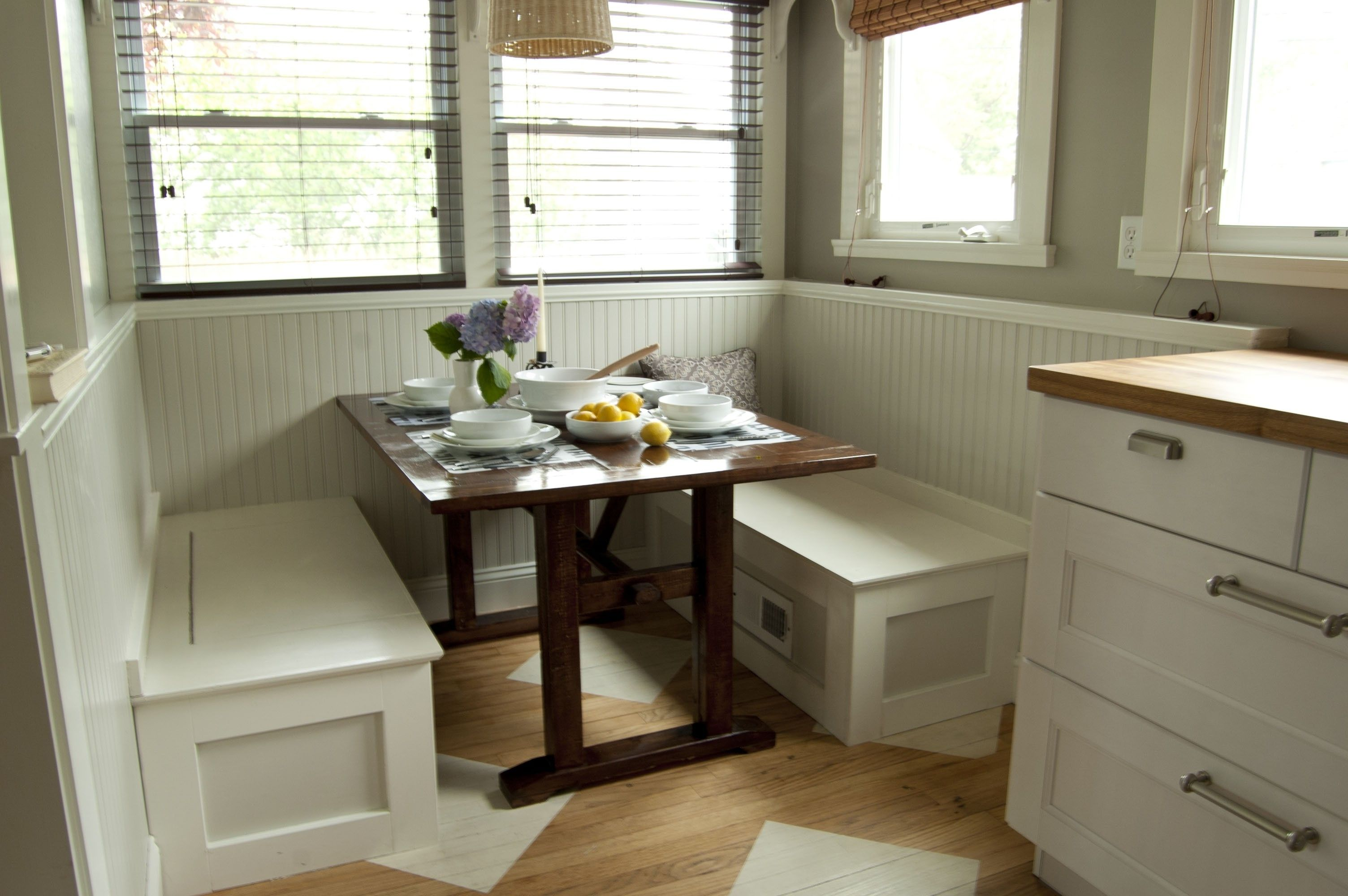 Dining Nook Bench with Storage   Table Pertaining To Corner Bench Dining Set With Storage At London ...