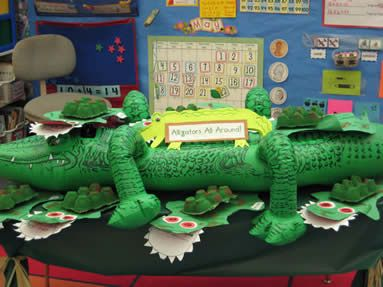 Blow Up Pool Alligator Nice For Introducing Letter A Or
