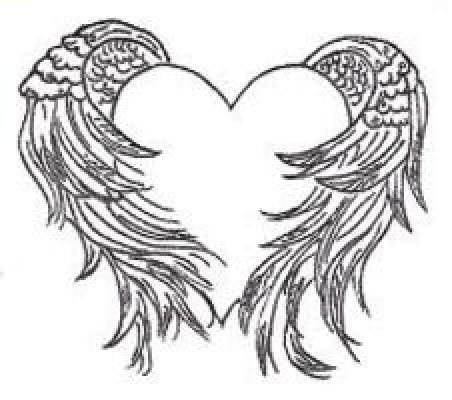 heart with angel wings tattoo heart with wings tattoo designs rh pinterest com angel wings with heart clipart angel wings with heart clipart