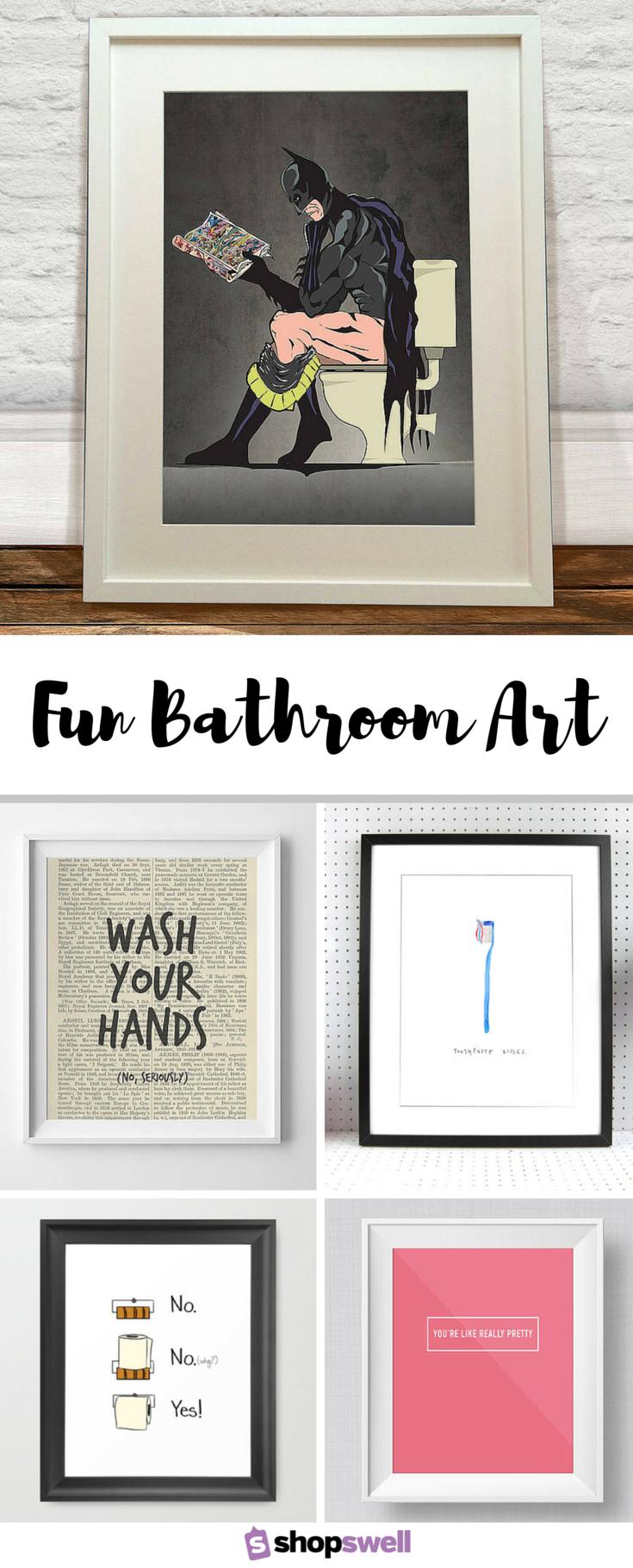 Fun Bathroom Art Shopswell In 2020 Bathroom Art Amazing Bathrooms Quirky Decor