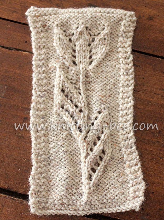 Tulip Motif Knitting | Knitting patterns, Patterns and Stitch
