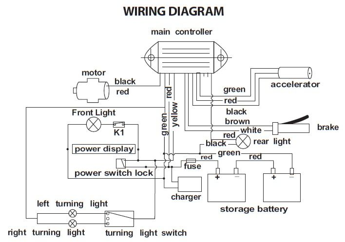 Wiring Diagram For Electric Scooter wiring diagram
