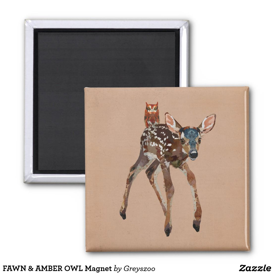 Fawn amber owl magnet pinterest magnets and amber fawn amber owl magnet negle Images