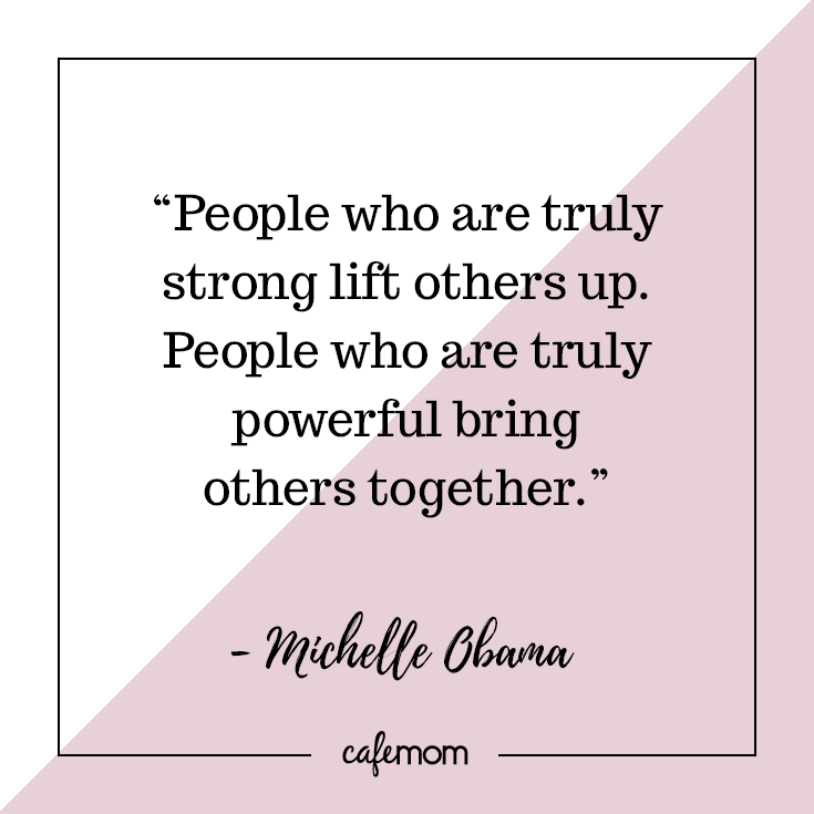 Michelle Obama offers these words for those who want to build a community-- and it's a  powerful lesson for our children , too.    More from... #mentorquotes