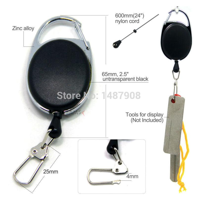 Sams Fly Fishing Zinger Retractor Tools Holder Extractor Stopper Keeper Fishing Tether Retractable Reel Badge Holder Accessories Fly Fishing Accessories Tool Holder Fly Fishing
