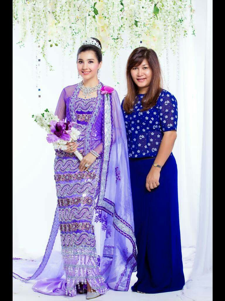 Myanmar Wedding Dress | Myanmar Wedding Dress | Pinterest