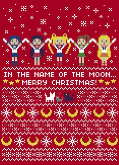Sailor Moon Christmas Sweater.Sailor Moon Sweater Pattern Sailor Moon Stuff Sailo