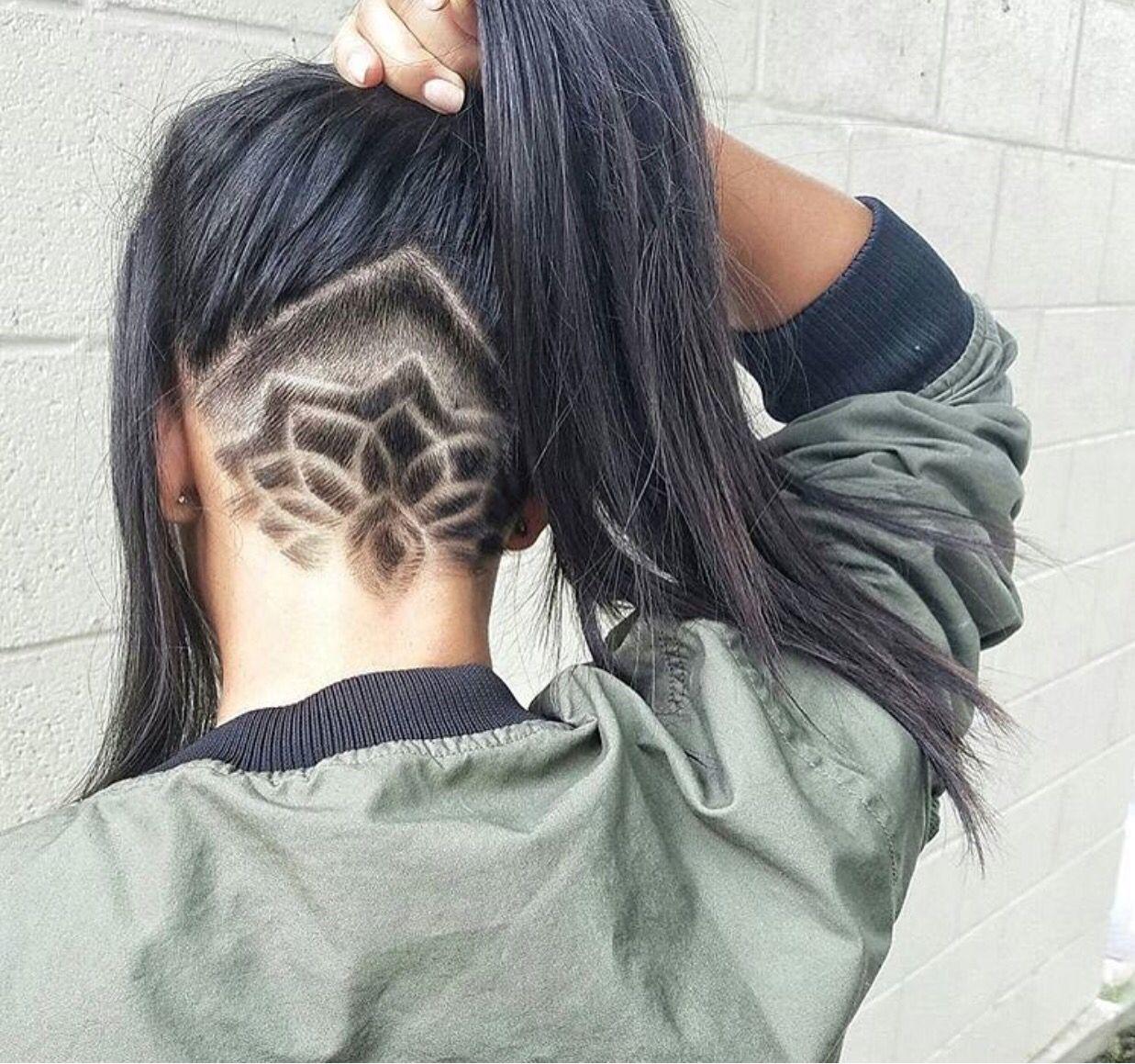 Рисунки лезвием на волосах