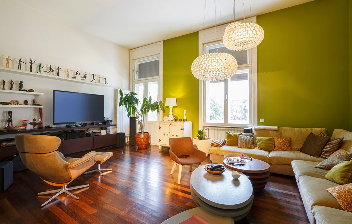Living Room Green & White Wall Colours | wall paint | Pinterest ...
