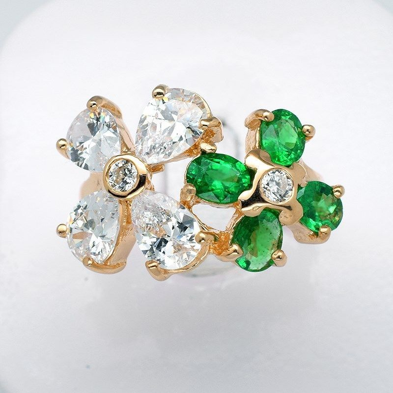 STRIKING 5x4mm Intense Green Tsavorite Garnet Ring in 925 Silver #35245