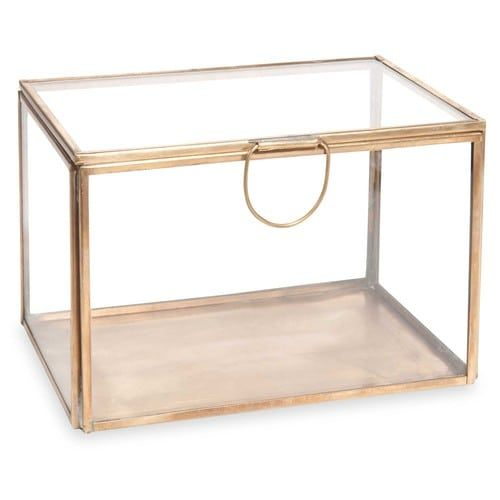 Boite A Bijoux En Verre Et Metal Alisha Brass Glas Metaal Bras