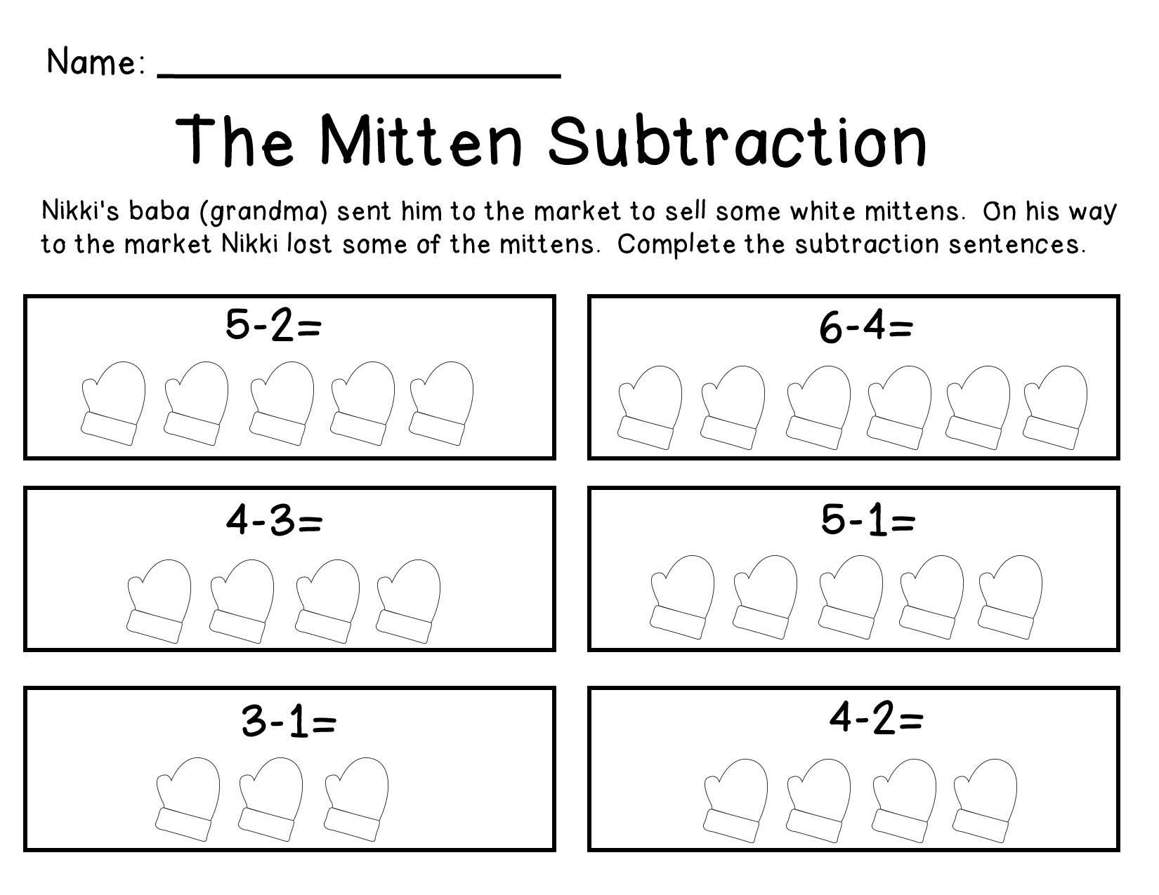 The Mitten Subtraction