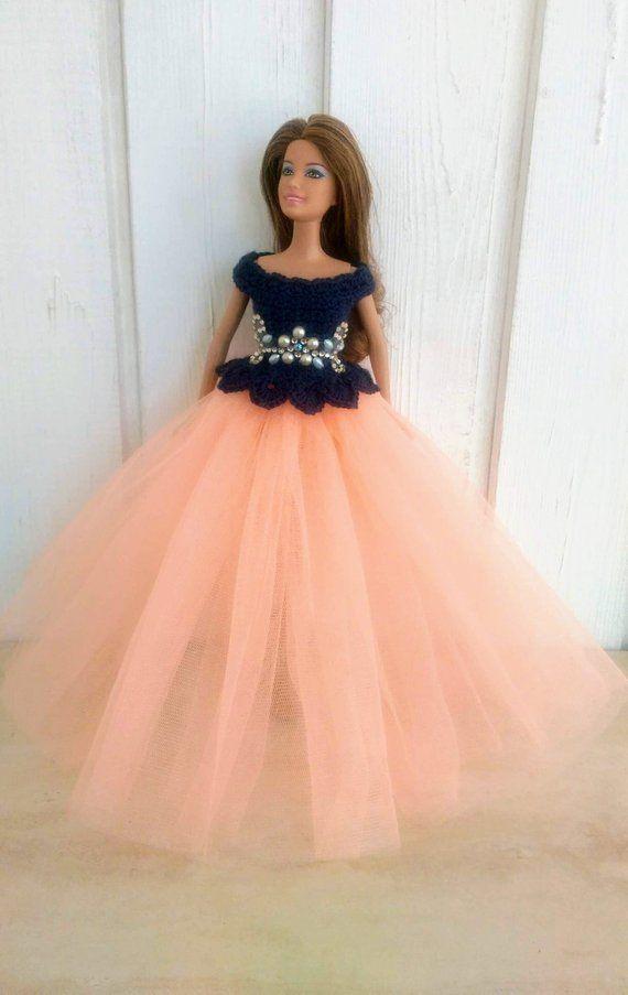 f1a4d202e67b Clothes for Barbie Crochet Dress for Barbie Doll Skirt of tulle Oblečenie  Pre Barbie