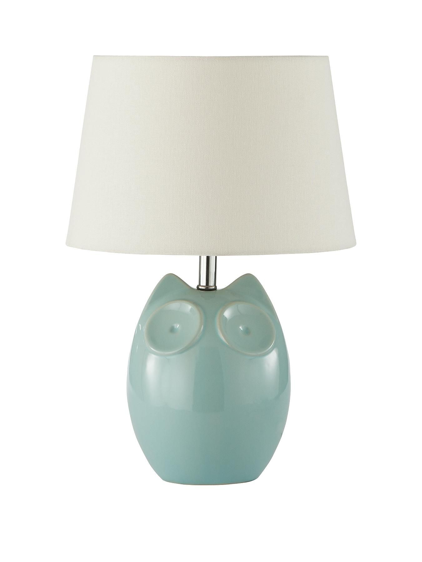 Hector owl ceramic table lampilluminate a table or sideboard with hector owl ceramic table lampilluminate a table or sideboard with the quirky character of this hector lamp the owl shaped ceramic base comes in a choice of aloadofball Image collections