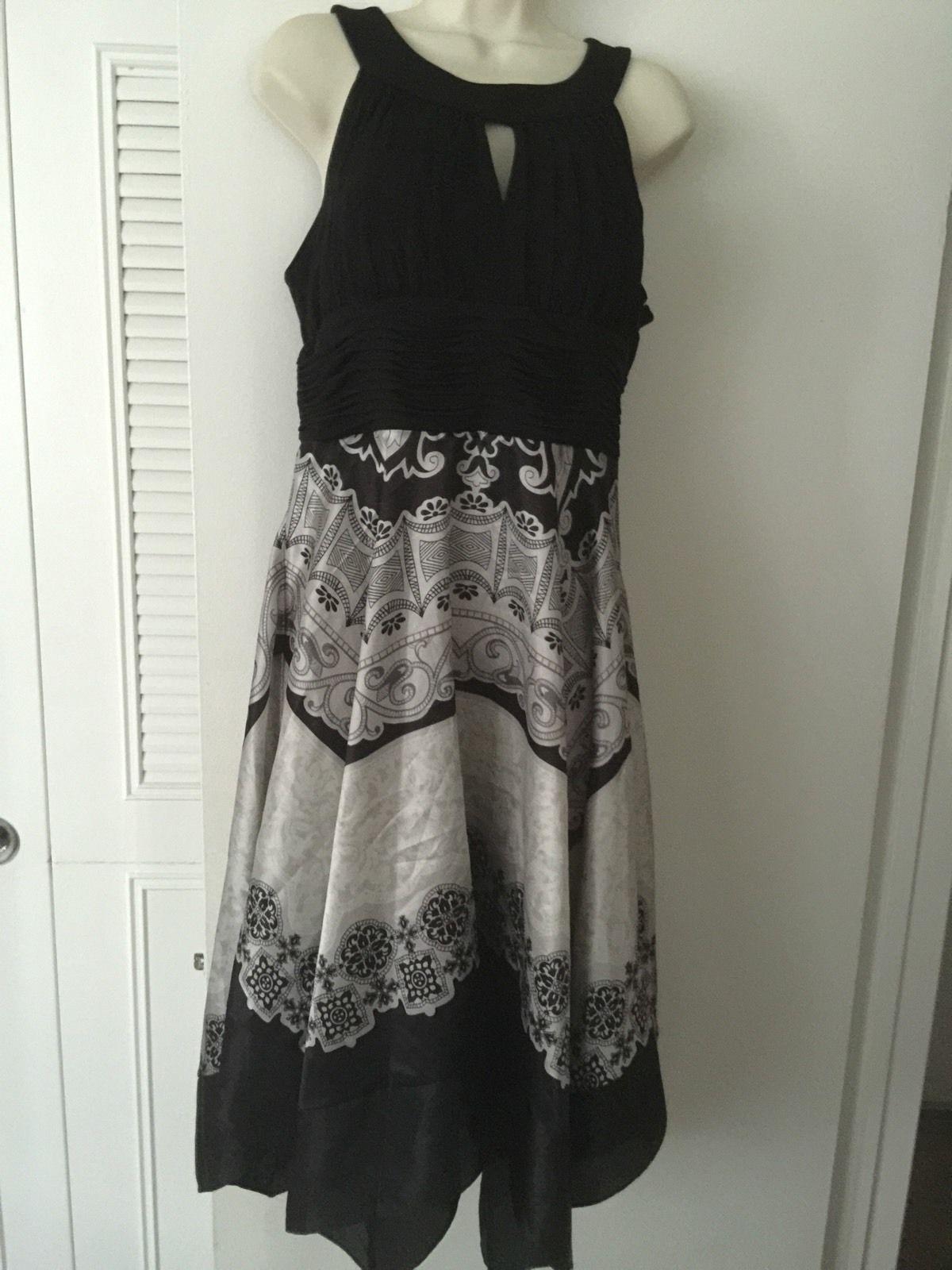 06bd25ecfc8311 Womens Signature Dress By Sangria Black   White Cocktail Sz 12 ...