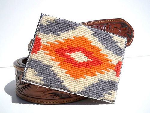 ikat needle point  great throw pillow pattern