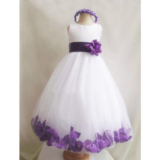 Robe de demoiselle d'honneur Angel Violette tenu enfant