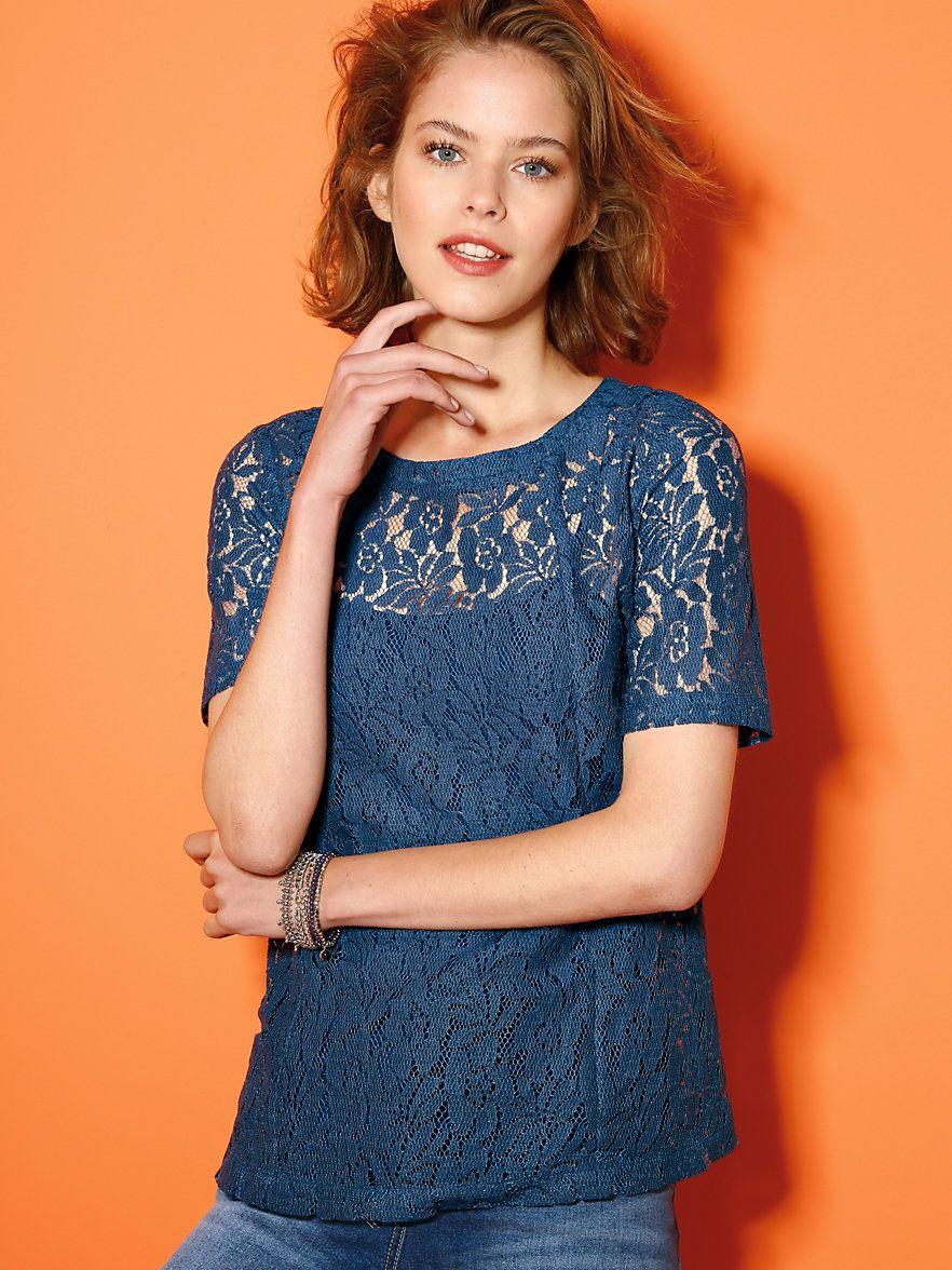 Looxent - Blusen-Shirt mit 1 2-Arm - Blau  5316622536