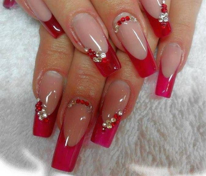 red nail art designs 2016