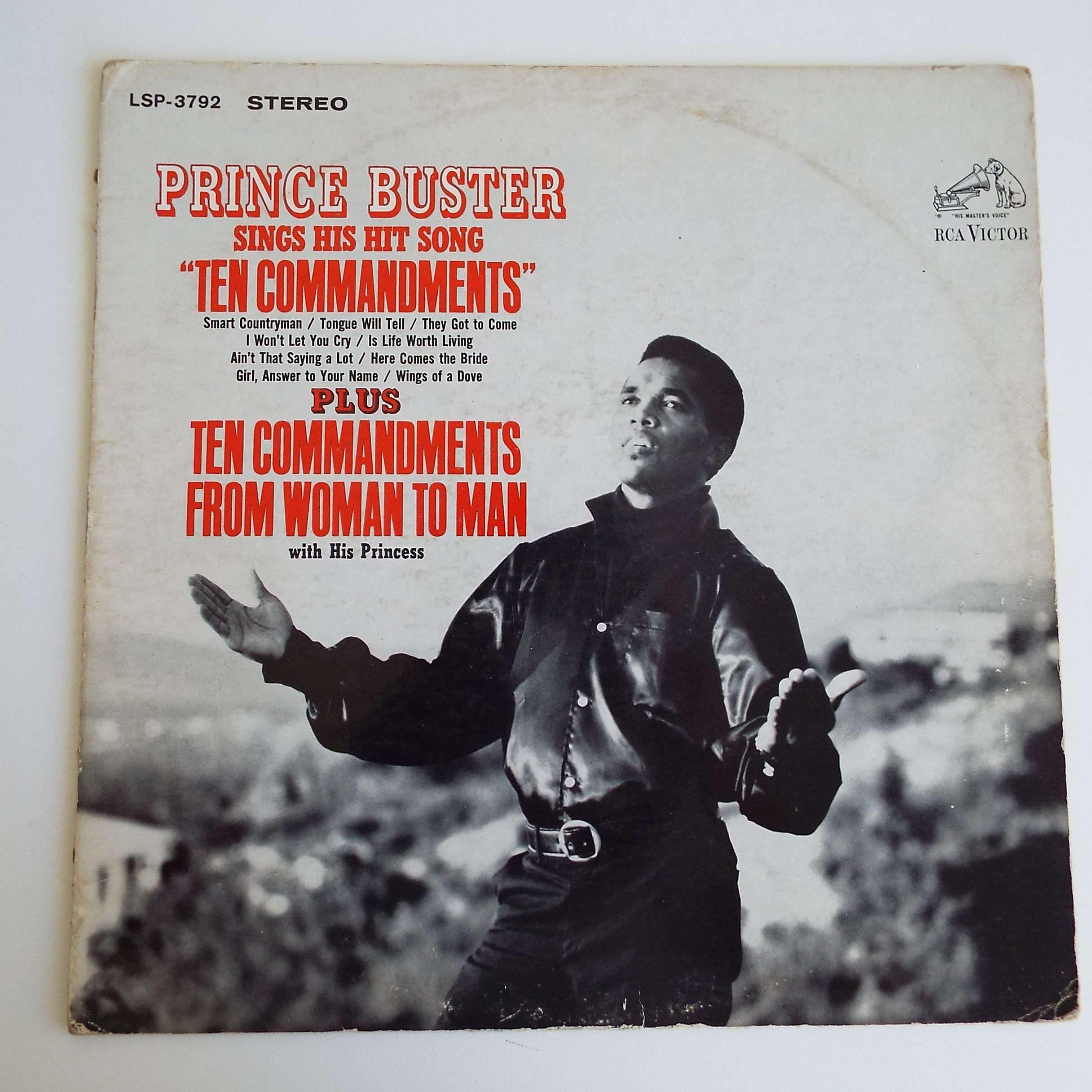 Rare Vintage 1967 Prince Buster Ten Commandments Lp Vinyl Etsy Prince Buster Vinyl Records Lp Vinyl