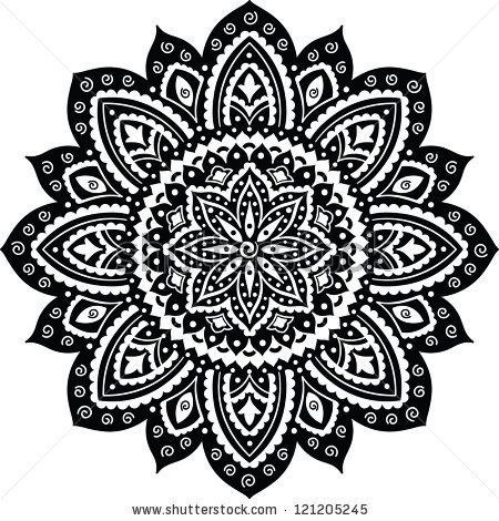 Black Indian ornament mandala   Tacos   Pinterest ...   450 x 470 jpeg 69kB