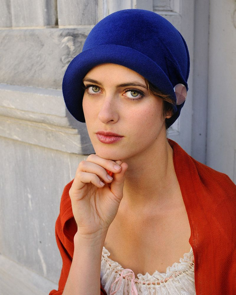 Millinery- Mary Lou Blue - cloche hat- made to order.  380.00 c21d04ba3a1