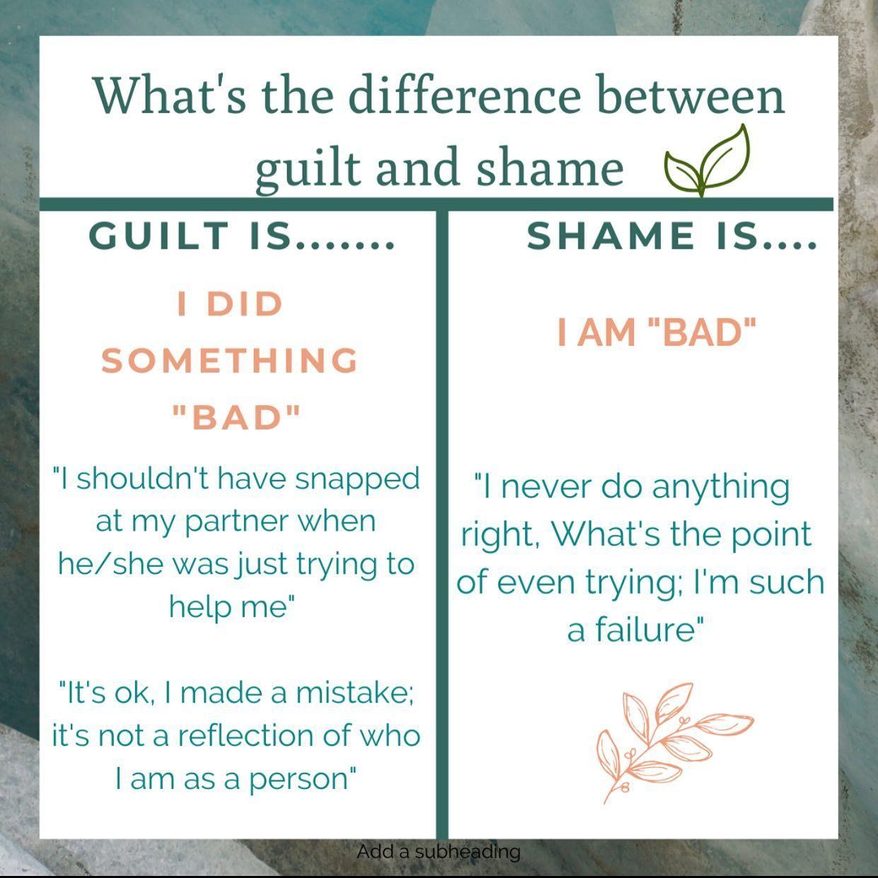 Why Is It Important To Understand The Difference Between Guilt Vs Shame Because With Guilt We Can Ask If The Guilt Is Justified Or Unjustified And Engage In Be In 2020