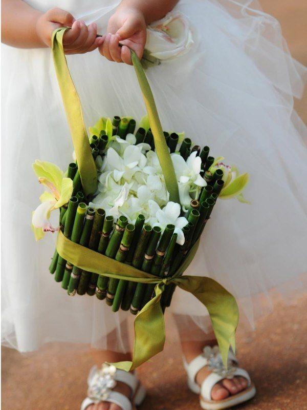 Reed #Flower Girl Basket #Hawaiian Flower Girl basket #Hawaiian ...
