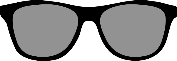 Sunglasses outline. Glasses clip art projects