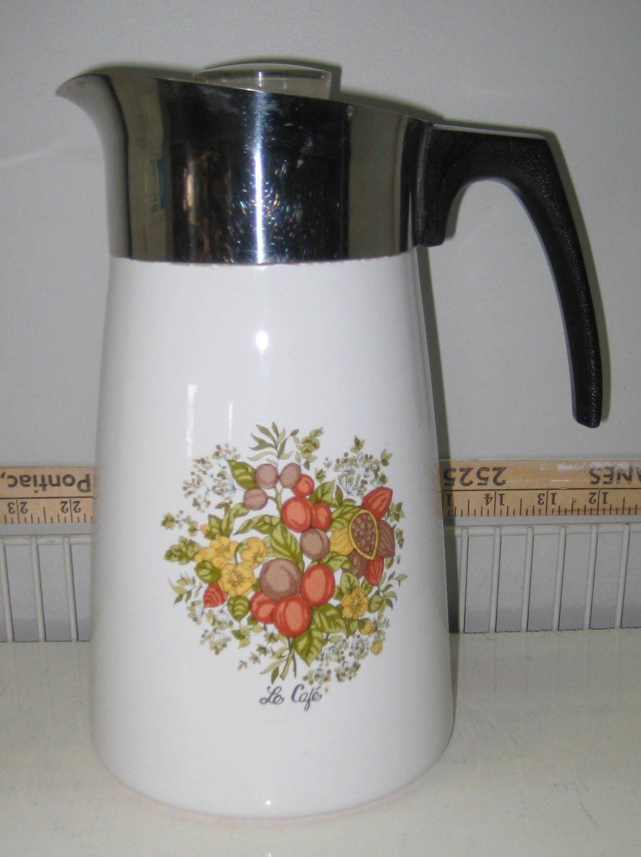 Corning Ware P149 La Café Pattern Coffee Tea Pot