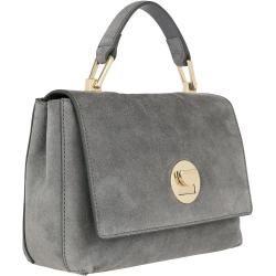 Photo of Coccinelle Liya Suede Crossbody Bag Small Glass in grau Umhängetasche für Damen CoccinelleCoccinelle
